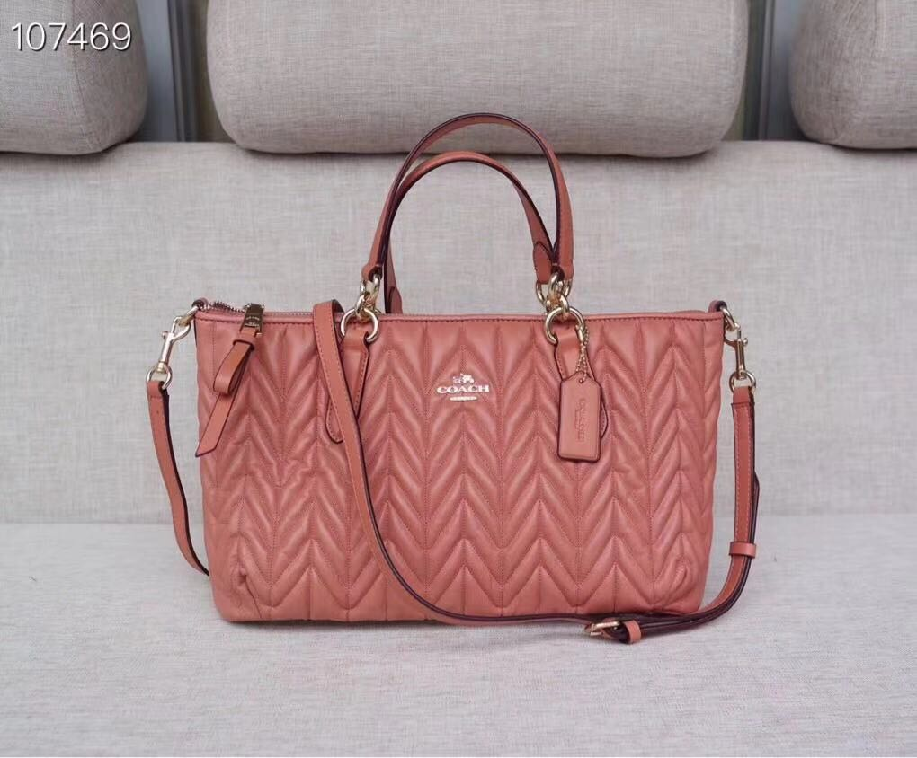 c1db918850d0 Authentic Coach Quilted Leather Ally Satchel Crossbody Bag Purse ...