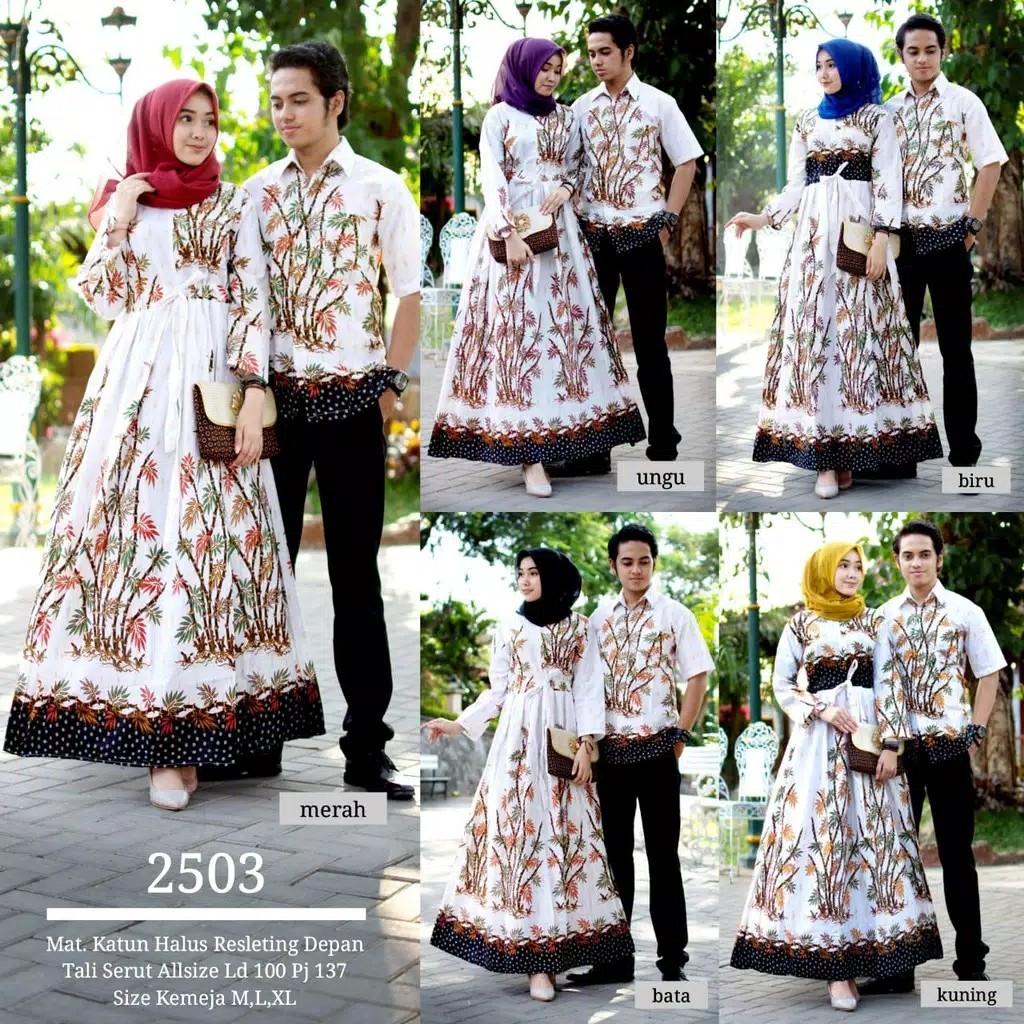 Batik Gamis Couple Set Muslim 3b0dec8aa0