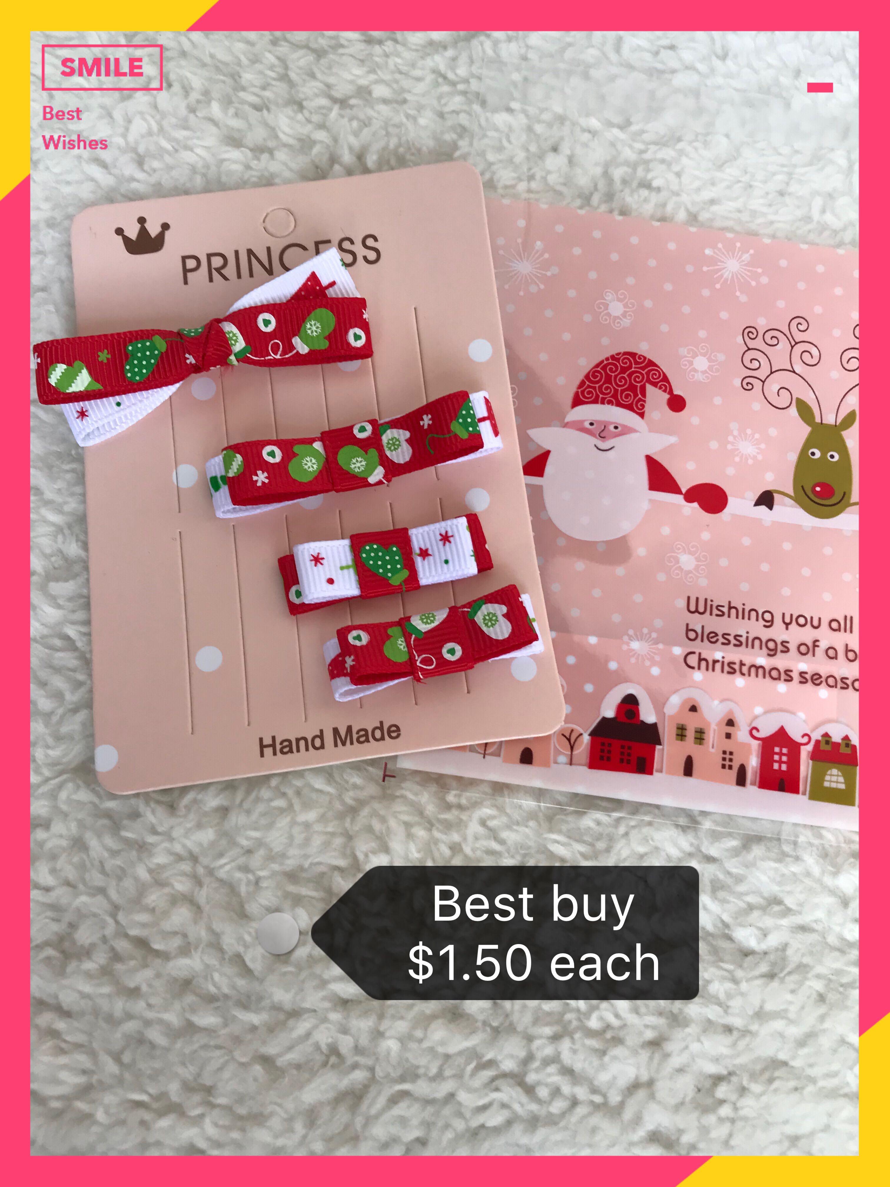 d2e6ec4ba6e82 Best Buy  1.50 Christmas hair pin hair clip baby kids