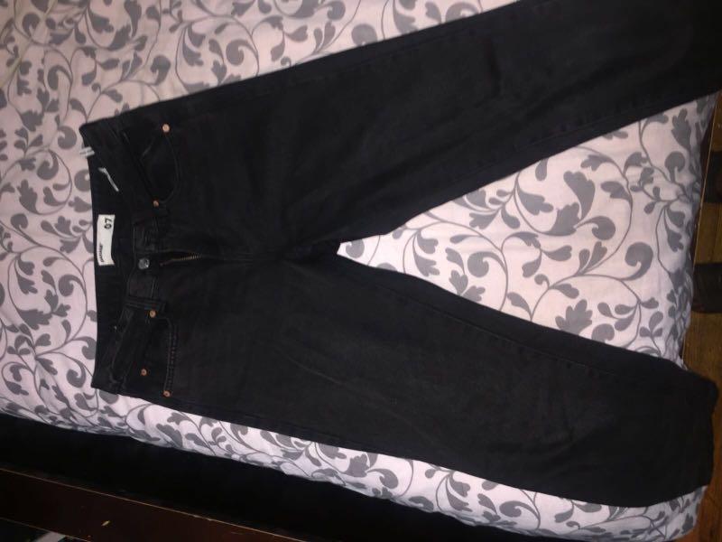 Black Garage Mom Jeans (Sz 7)