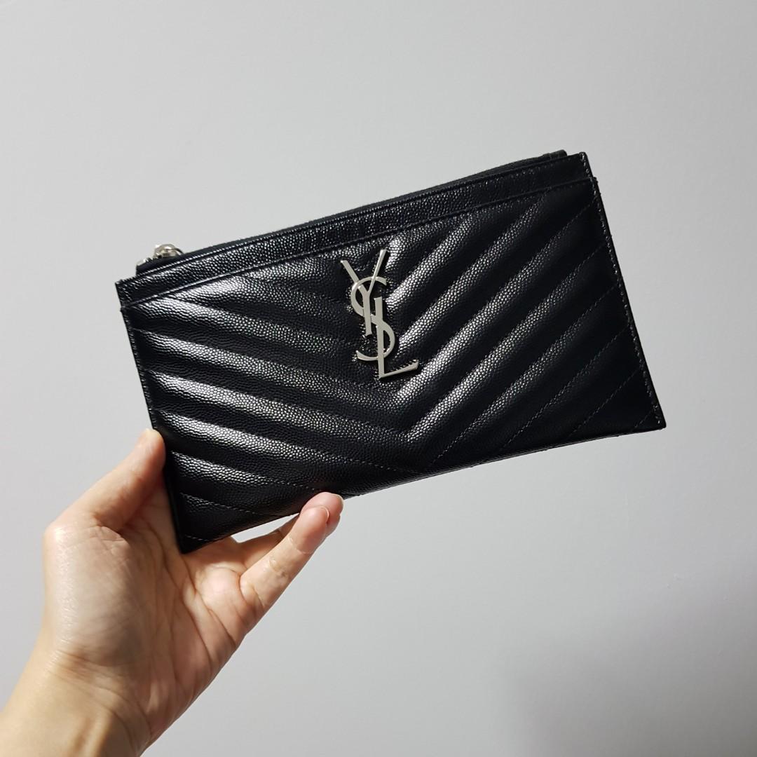 latest style hot products catch BNIB YSL Monogram Bill pouch / clutch (full set), Luxury ...