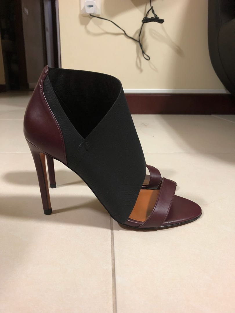48ac811438c Charles and Keith burgundy sandal heels