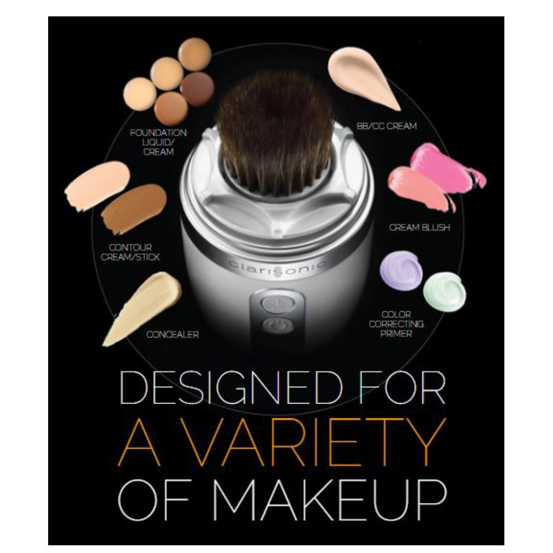 CLARISONIC FOUNDATION MAKEUP BRUSH BLENDS A FLAWLESS LOOK IN 60 SECONDS OR LESS NEW & AUTHENTIC (NO SWAPS, PRICE IS FIRM)