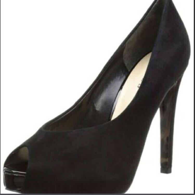 Guess Hyther Black Suede Heels in box BN