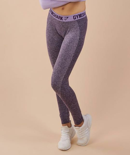 bbd0d556ab958 Gymshark FLEX LEGGINGS RICH PURPLE MARL/SOFT LILAC, Sports, Sports ...