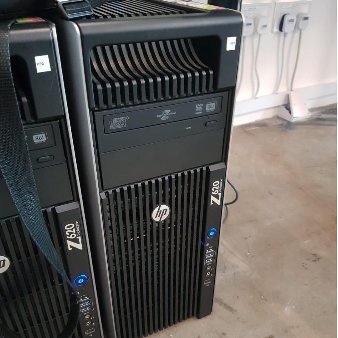 HP Z620 Dual CPU Workstation (2*2680v1@2 70GHz 16C 32T, 64GB