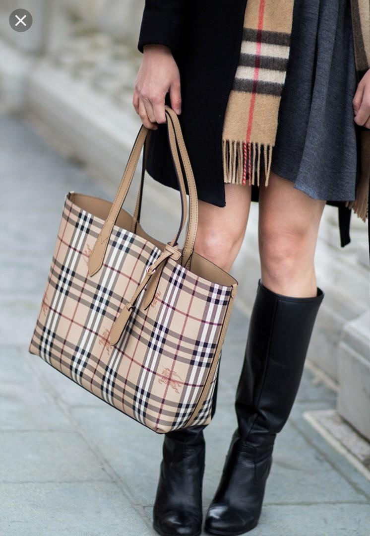 aaf750ec431d Lavenby Haymarket Check Reversible Medium Tote Shopping Bag