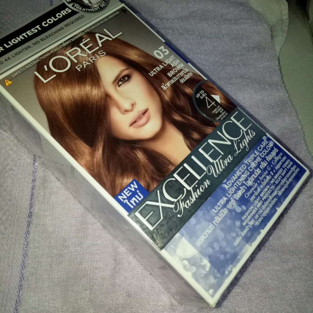 L Oreal Hair Color Shade 03 Ultra Light Ash Brown Health Beauty