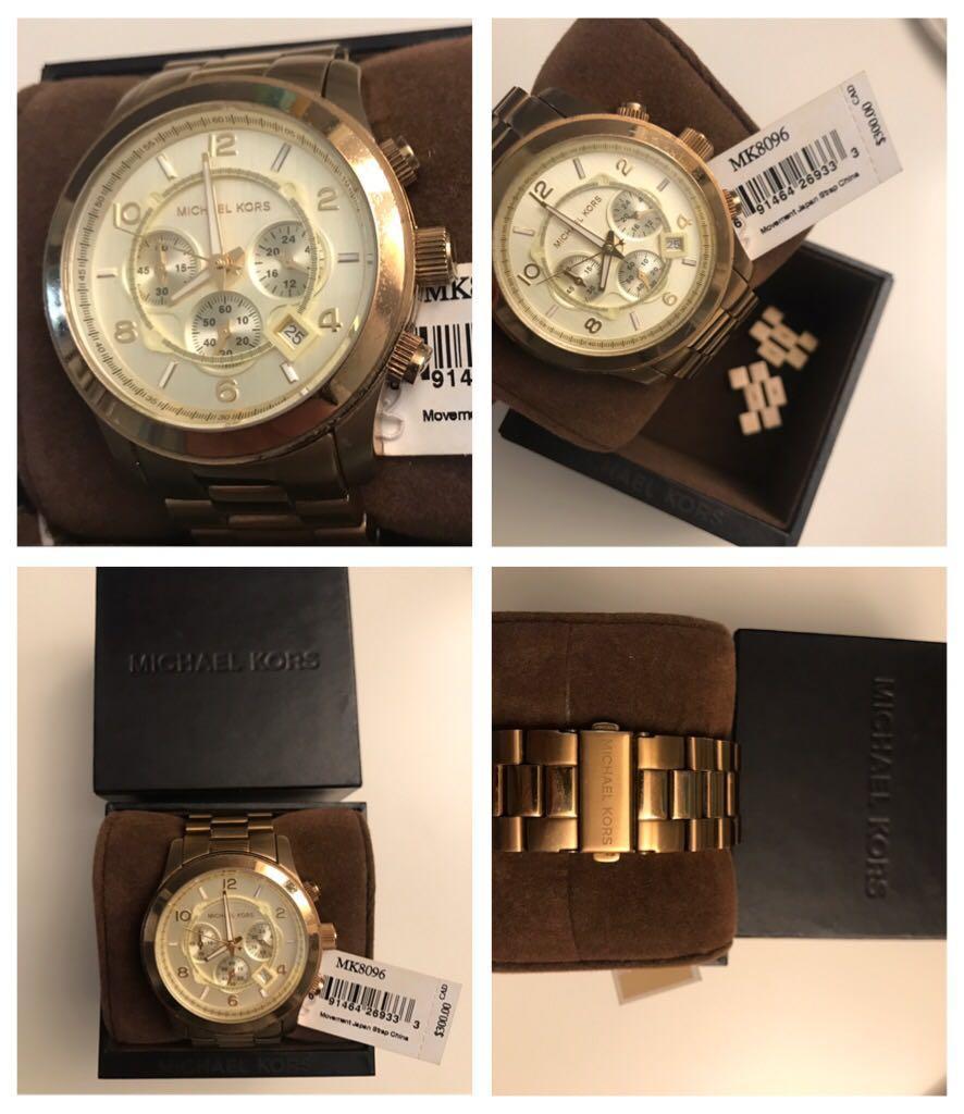 Michael Kors Runway Watch Gold