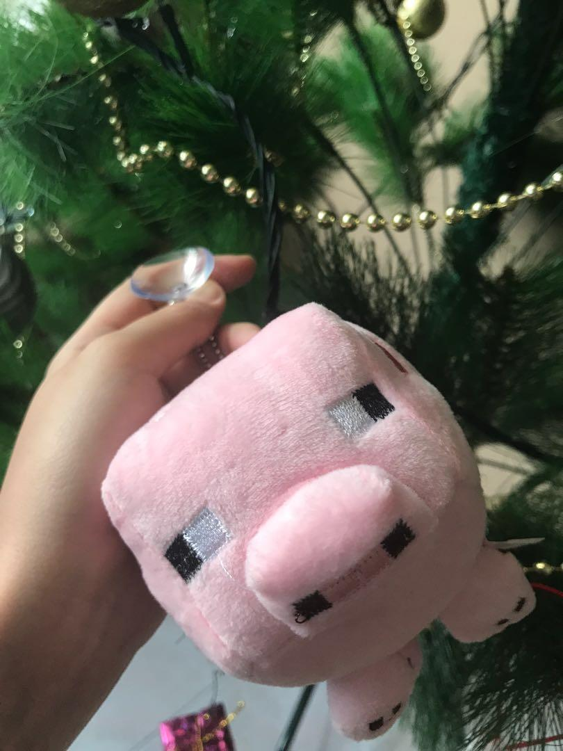 Minecraft pig plush