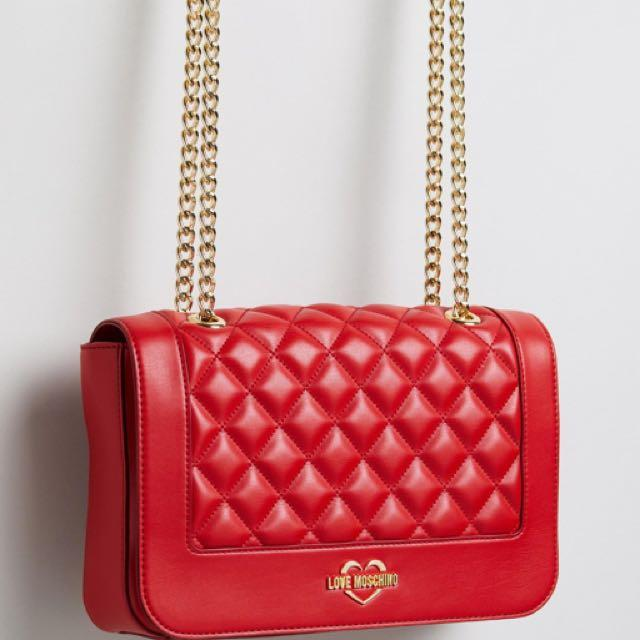 Moschino Bag In Black Or Red