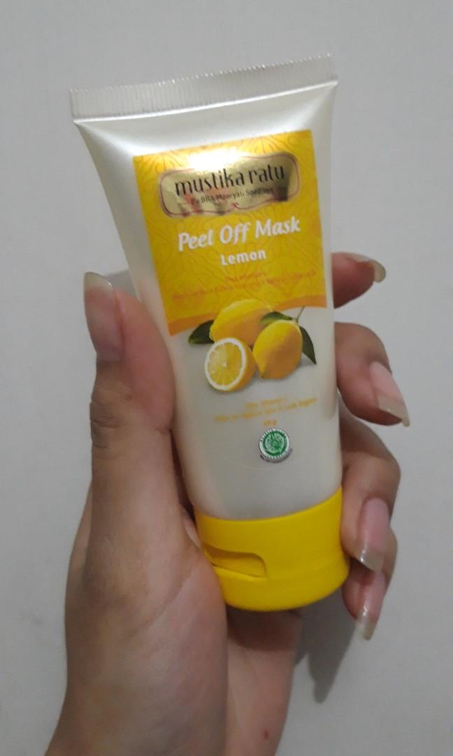 MUSTIKARATU - Peel Off Mask Lemon 60 gram, Health & Beauty, Skin, Bath, & Body on Carousell
