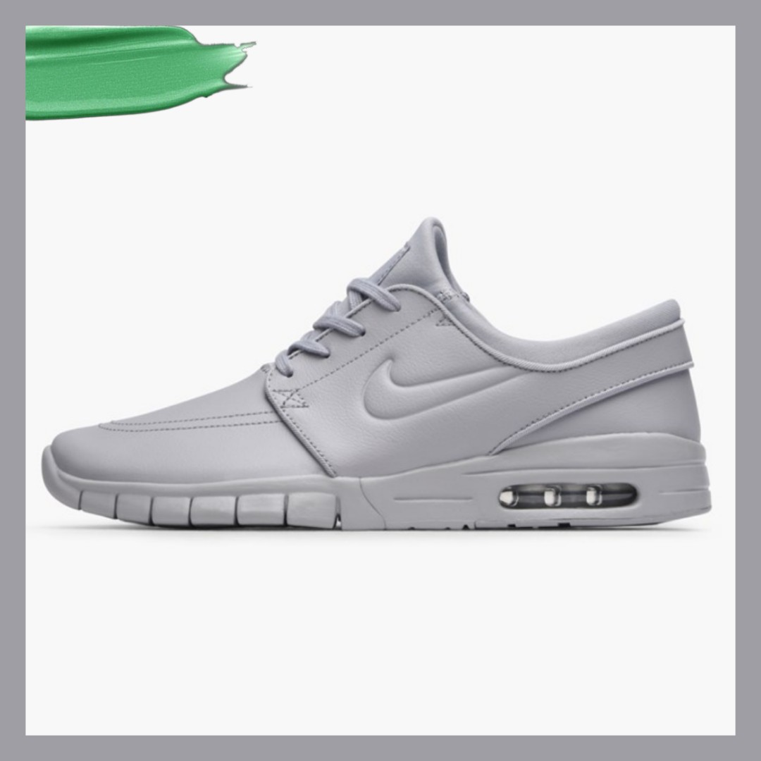 super popular ed612 7c51b nike sb stefan janoski max l wolf grey, Men s Fashion, Footwear, Sneakers  on Carousell