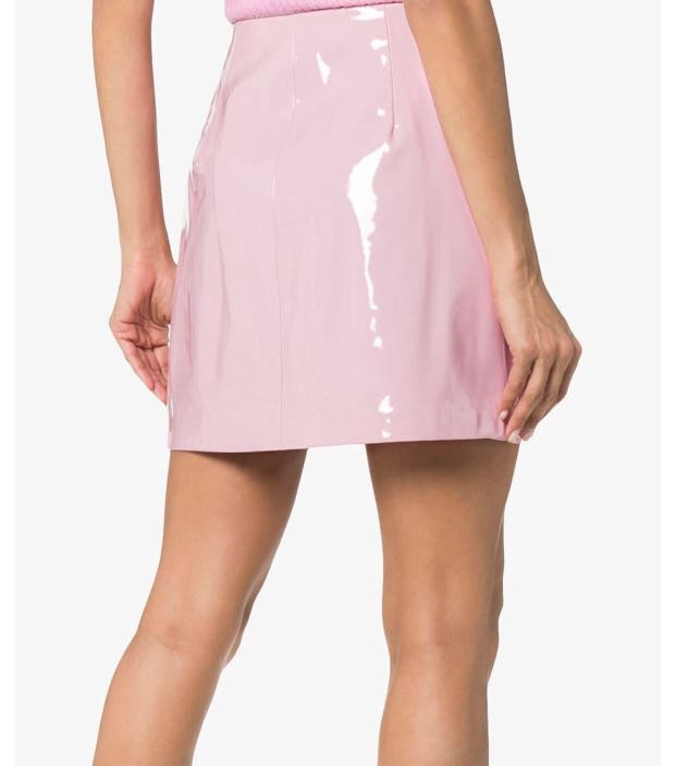 1c0e0f4f64 Pink patent leather shiny A line skirt, Women's Fashion, Clothes, Pants,  Jeans & Shorts on Carousell