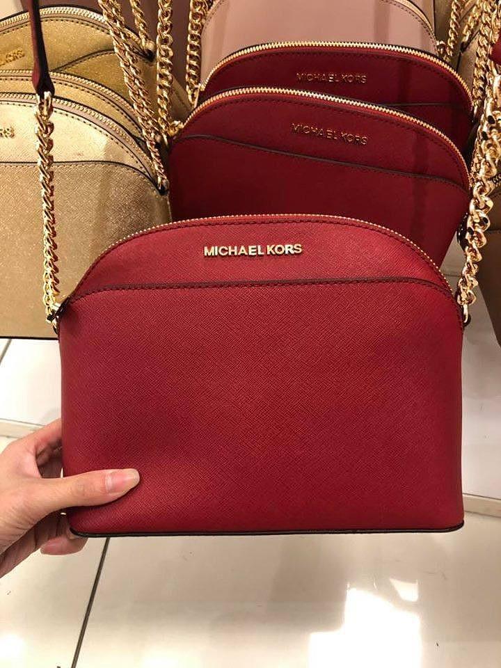 153c78b95 P.O. SALE! Michael Kors Emmy Crossbody Bag- Red ☆AUTHENTIC ...