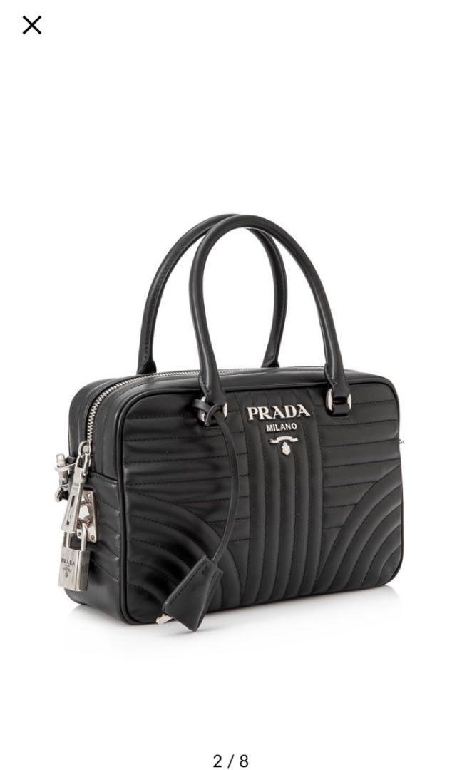20e836cf30 Prada soft calf impunture diagramme bag 25cm, Luxury, Bags & Wallets ...