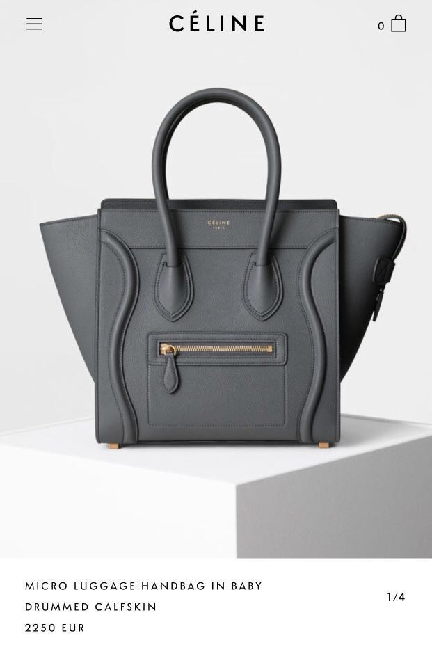 1fe30d0bf5 Reduced! Celine micro luggage in Kohl