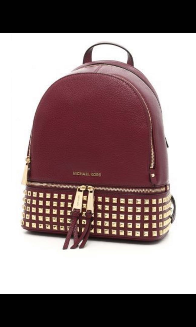 4d006e5a1a971 Rhea Medium Studded Leather Backpack