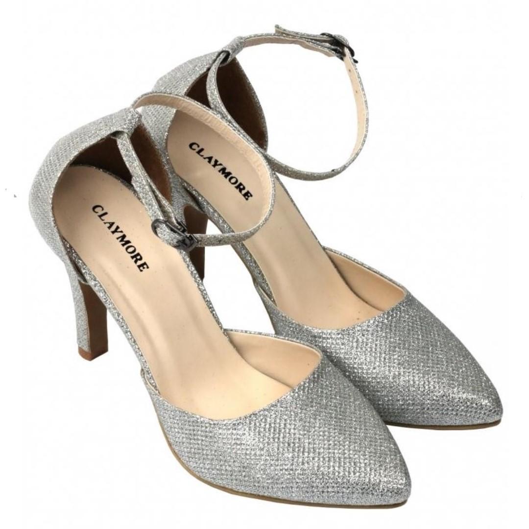 Sepatu High Heels Silver CLAYMORE size 40