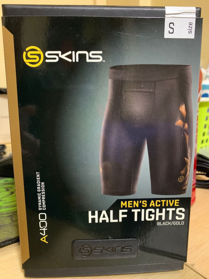 aa6c7ded3d Skins A400 Men's Half Tights, Sports, Sports Apparel on Carousell