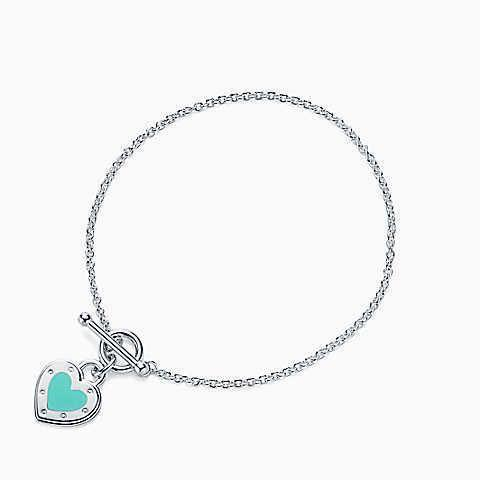 Tiffany Co Heart Pendant Bracelet Women S Fashion Jewellery