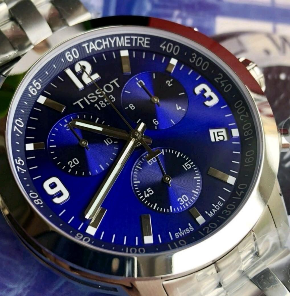 TISSOT 天梭 8月新品多功能6針 ETA石英錶藍盤男款手錶
