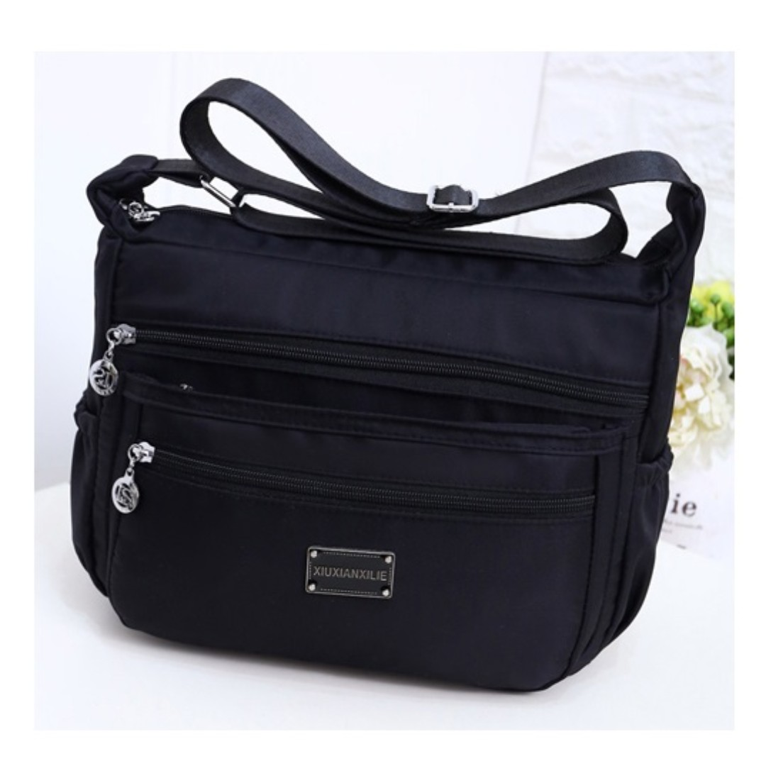 76bb186ab2 Waterproof Nylon Cloth Single Shoulder Messenger Leisure Office Bag ...