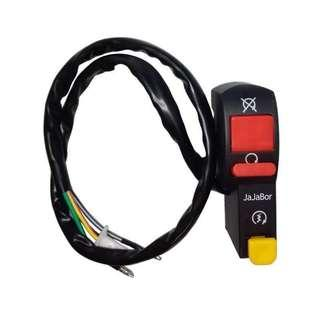 Motorcycle Switch Handlebar Electric Starter Handlebar Start & Stop ATV On-Off Button Flameout Switch 4 Wire Connection
