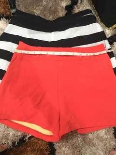 Red and Stripes shorts