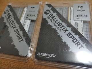 Ballistix Sport LT DDR4 2666 2X8GB Desktop Ram