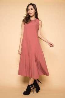 🚚 Montifs Mauve Pocket Maxi Dress