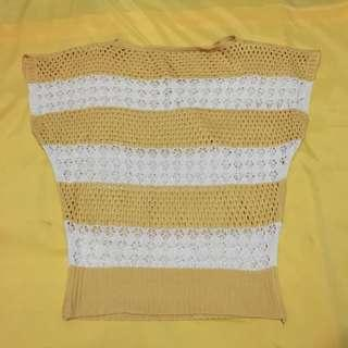 Knit see through top