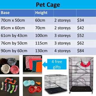 Cat kitten CAGE house, not carrier scratch post condo tree pet food