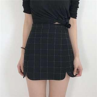 Black Grid Skirt