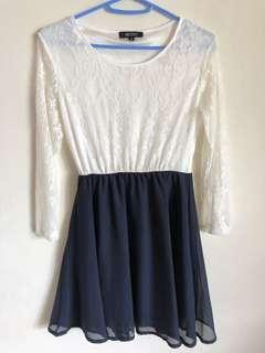 Work lace dress 斯文連身裙