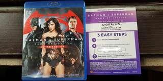 Batman v Superman Blu-ray Bluray HD digital