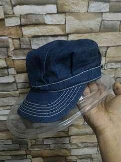 Railroad worker hikori cap hat topi vintage