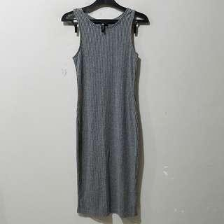 Cotton On Grey Ribbed Dress