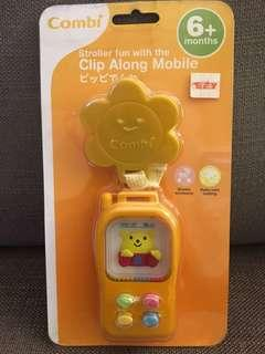 Brand new Combi clip along mobile stroller toy