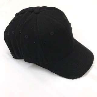 Cheap LMDN Black Distressed Cap