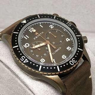 🚚 FS.BNIB ZENITH BRONZE PILOT CHRONOMETRO TIPO CP-2 EL PRIMERO AUTOMATIC CHRONOGRAPH WATCH 29.2240.405/18.C801