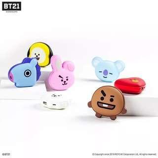 韓國正品BTS防彈少年團BT21暖手寶充電式迷你可愛便攜暖手蛋