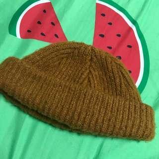 🚚 粗針織短毛帽