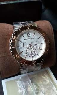 Authentic Michael Kors Watch MK5444 large face acrylic coach kate spade TW fossil DKNY