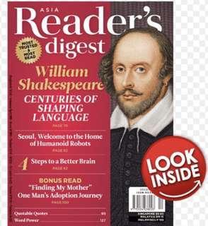 Latest Current Issue Reader's Digest December 2018