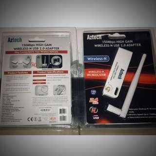 Aztech 150mbps high gain wireless-n usb 2.0 adapter