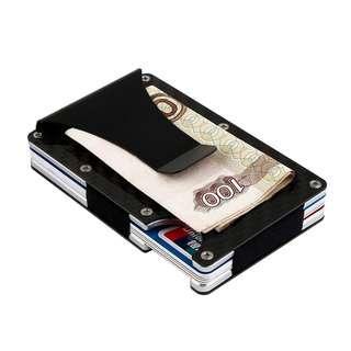Carbon Fiber NFC Shield Money Clip Card Holder Wallet Fibre RFID