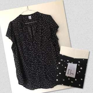 H&M butterfly blouse
