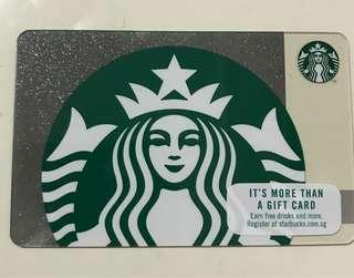 🚚 Starbucks Gift Card (registered/ 0 value)