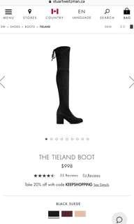 SW Tieland Size 6.5 Black Suede